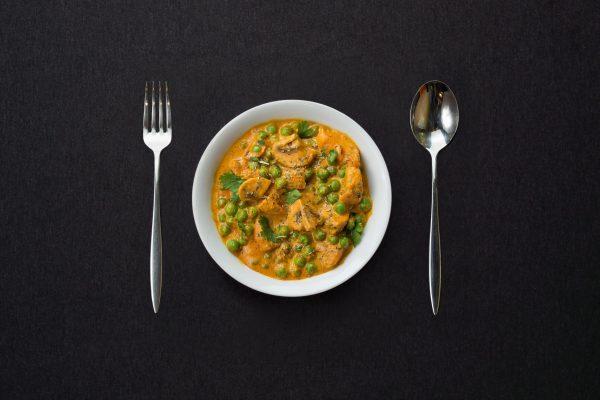 Зеленый горошек с грибами /100 гр.
